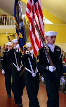 U.S. Naval Sea Cadet Corps color guard team at the 2019 Veterans Chow Down. (Photo by Major Peter Milano, New York Wing)